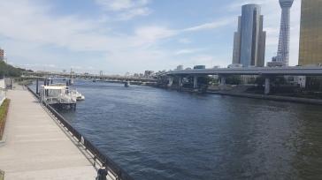 Vue sur la rivière Sumida